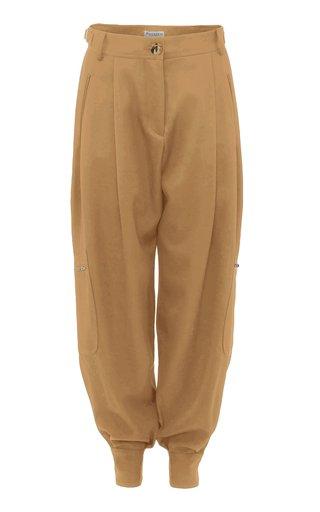 Pleated Wool Tapered-Leg Pants