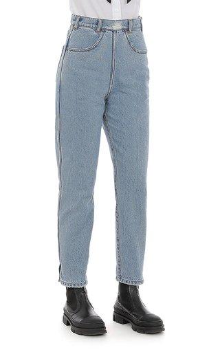 Denim High-Waisted Pants