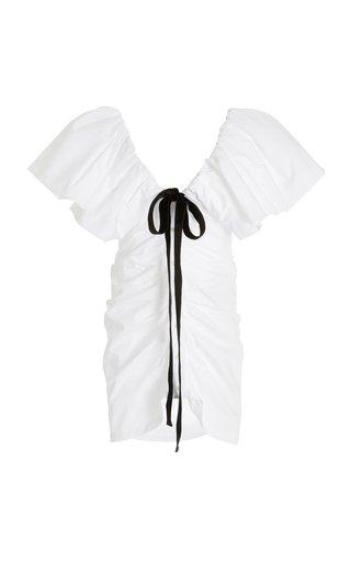 Poplin Button Front Mini Dress