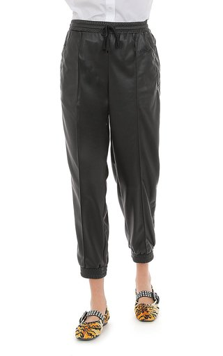 Stretch Eco-Leather Joggers