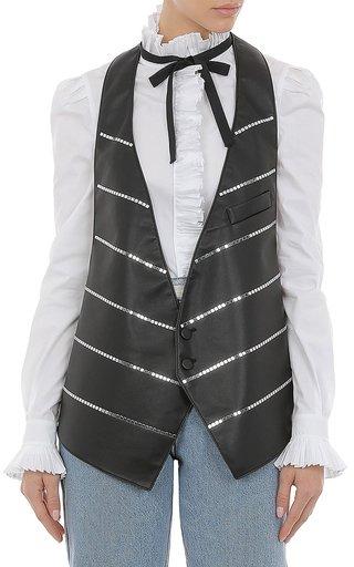 Eco-Leather Studded Vest
