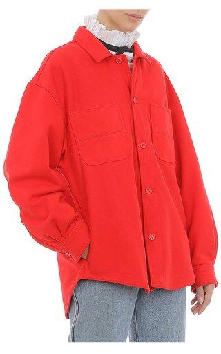 Brushed Fleece Shirt Jacket