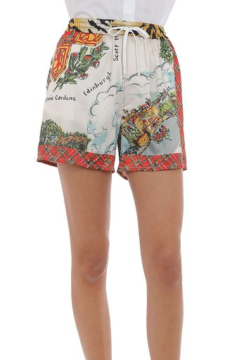 Printed Twill Boxer Shorts
