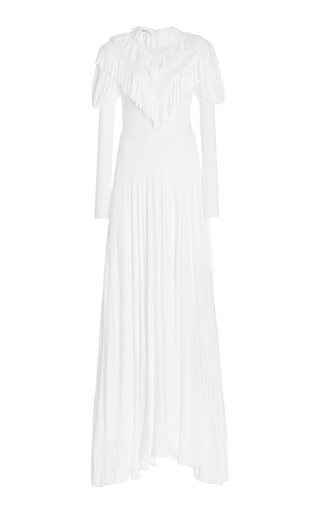 Ruffled Jersey Gown