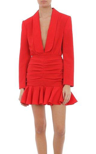 Stretch Sable Mini Dress