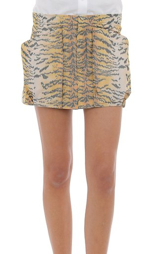 Taffeta Tiger Print Shorts