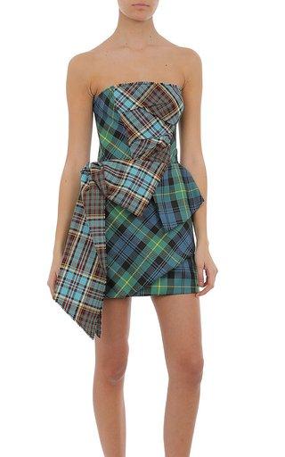 Tartan Patchwork Mini Dress