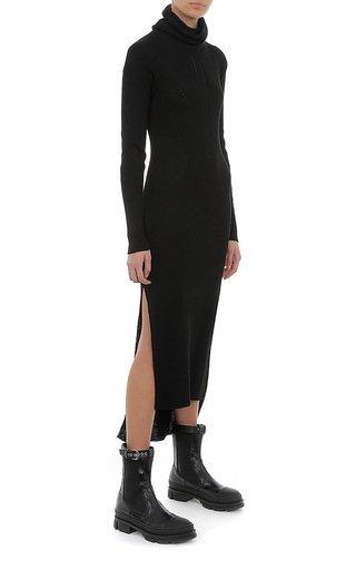 Viscose Wool Blend Sweater Dress