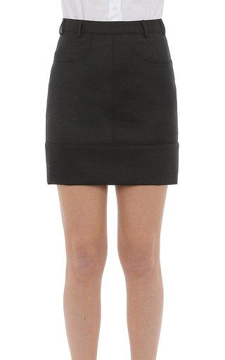 Wool Gabardine Mini Skirt