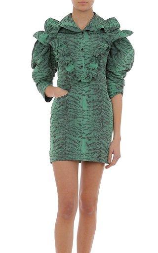 Taffeta Tiger Print Dress