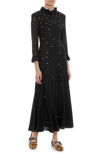 Jersey Embellished Midi Dress