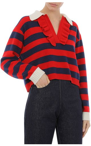 Cashmere Blend Striped Sweater