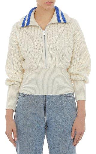 Extrafine Merino Wool Half-Zip Sweater