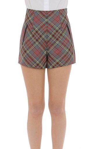 Wool Tartan Shorts