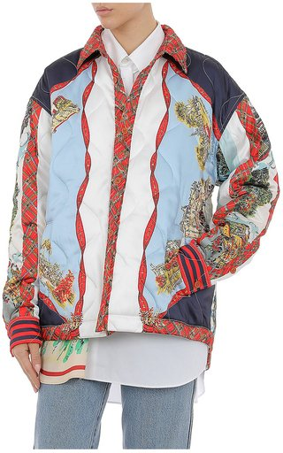 Printed Twill Quilted Jacket