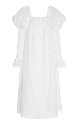 Opera Off-The-Shoulder Linen Midi Dress