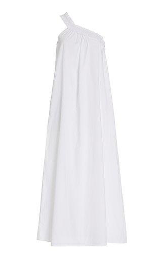Donatella One-Shoulder Cotton Poplin Maxi Dress
