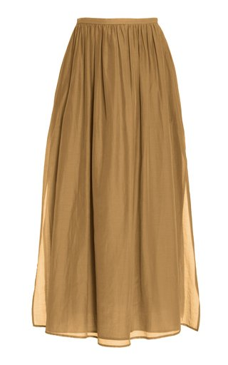 Rae Cotton-Silk Maxi Skirt