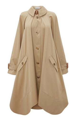 Oversized Cotton Trench Coat