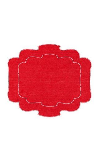 Parentesi Set-Of-Four Embroidered Linen Placemats