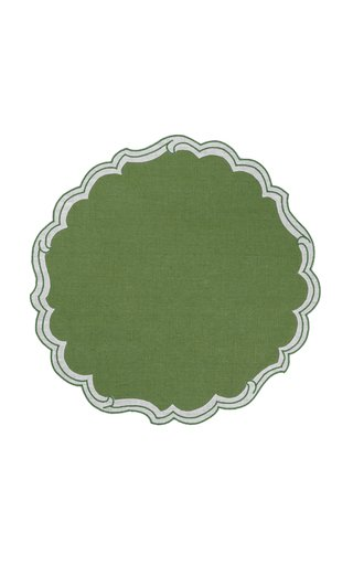 Victoria Set-Of-Four Embroidered Linen Placemats