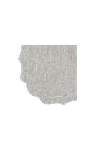 Parentesi Set-Of-Four Embroidered Linen Napkins