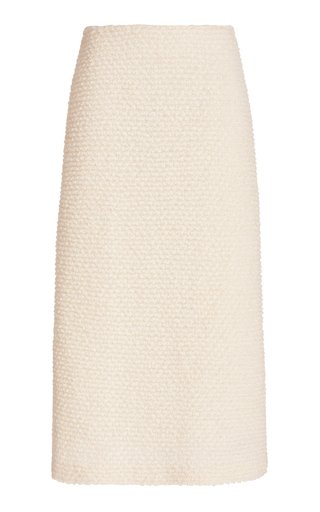 Boucle Wool Maxi Skirt