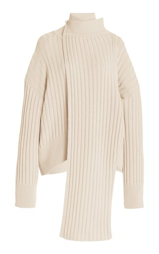 Ribbed-Knit Turtleneck Sweater