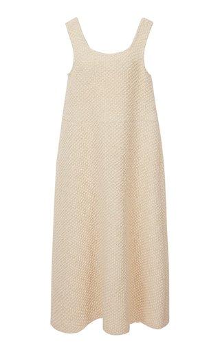 Wool-Boucle Knit Maxi Dress