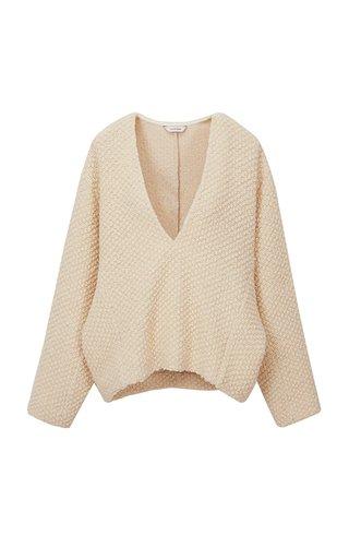Wool-Boucle Knit Sweater