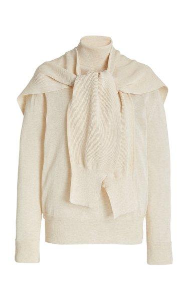 Basic Cotton-Knit Turtleneck Sweater