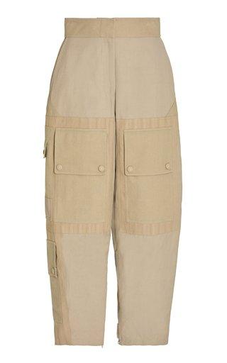 Kaiya Cropped Canvas Tapered Cargo Pants