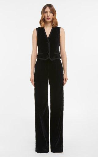 Mellie Cotton Velvet Buttoned Vest
