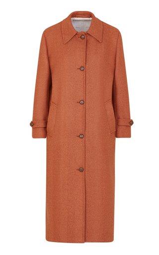 The Maria Wool Herringbone Coat