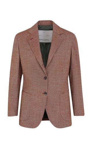 The Andrea Wool Herringbone Blazer