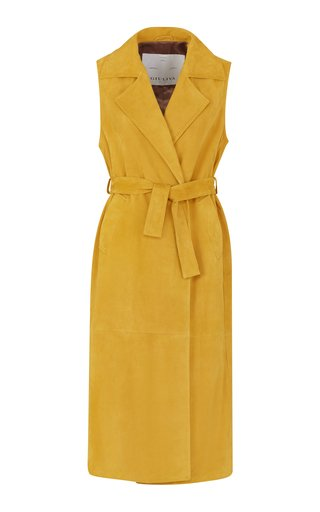 The Alex Suede Trench Coat