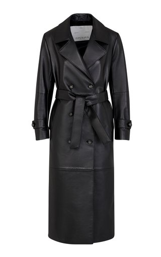 The Christie Leather Trench Coat
