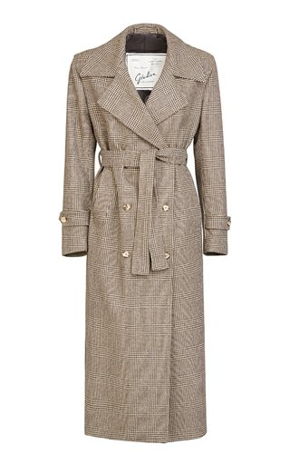 The Christie Wool Prince Of Wales Check Trench Coat