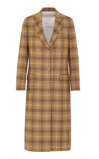 The Tatjana Lambswool Check Coat