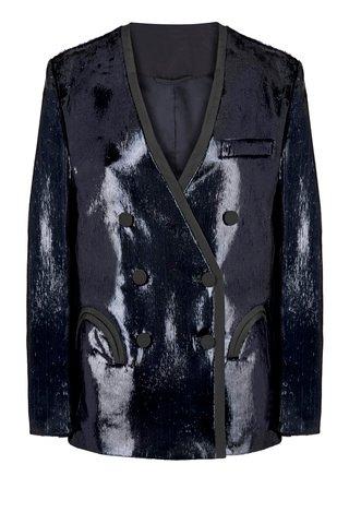 Cynara Sunset Faux-Leather Blazer