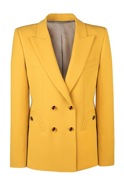 Belle Blonde Charmer Wool-Blend Blazer