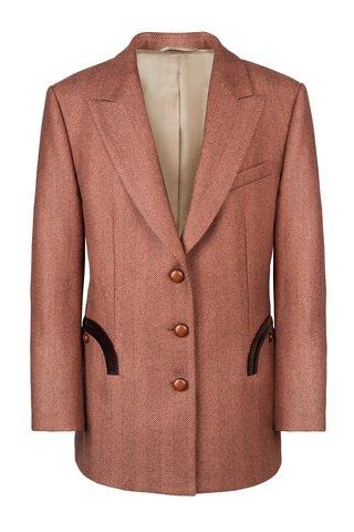 Cheveyo Apricot Wool Tomboy Blazer