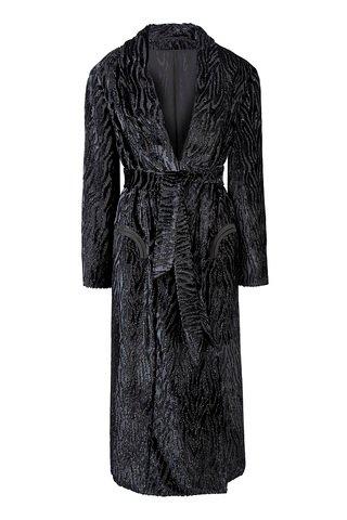 Saudade Whistler Silk Crepe Coat