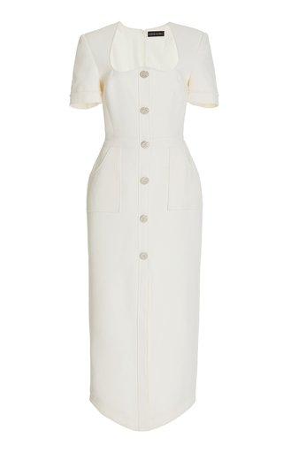 Wool Midi Blazer Dress