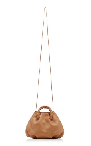 Bombon Braided Leather Top Handle Bag