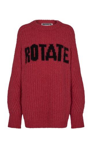 Brandy Oversized Logo-Knit Wool-Blend Sweater