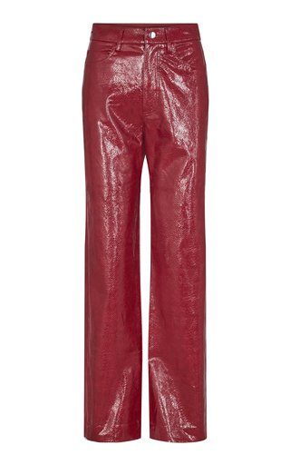 Rotie Vegan-Leather Straight-Leg Pants