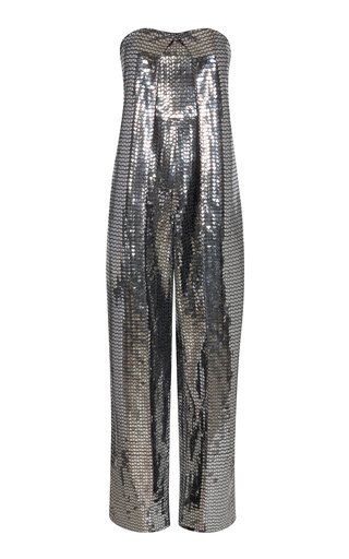 Natasha Textured Metallic Jumpsuit