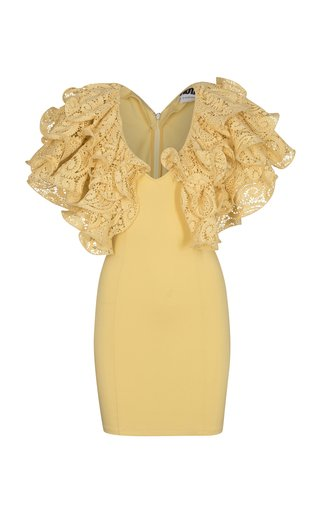 Carmen Lace-Trimmed Organic Cotton Mini Dress