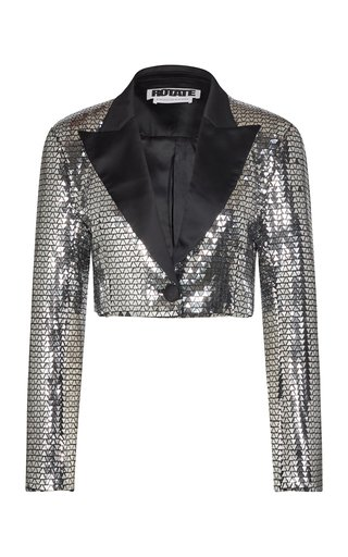 Fiona Cropped Metallic Blazer